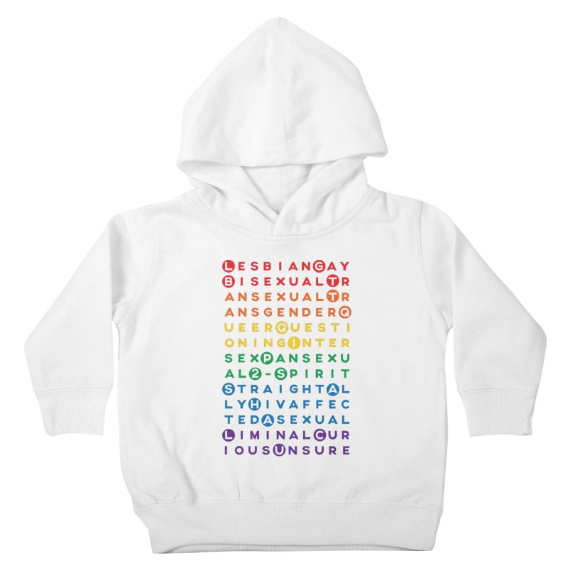 Gay Bee Cee's Kids Toddler Pullover Hoody by march1studios's Artist Shop