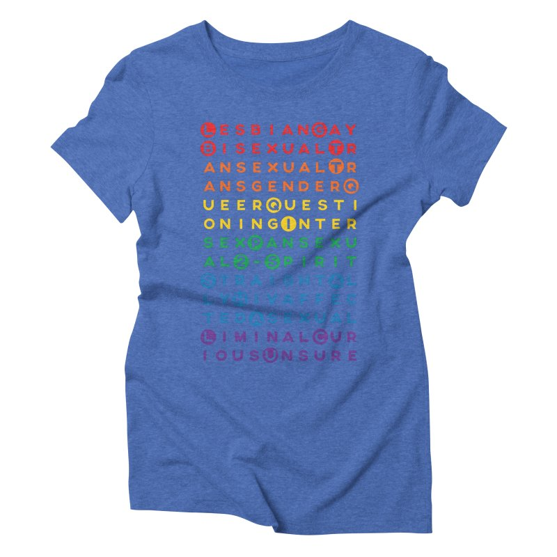 Gay Bee Cee's Women's Triblend T-Shirt by march1studios's Artist Shop