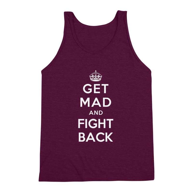 Get Mad And Fight Back Men's Triblend Tank by march1studios's Artist Shop
