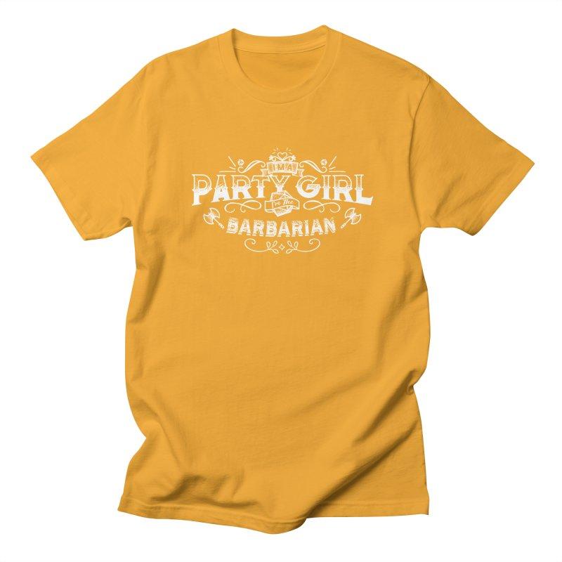 Party Girl: Barbarian Men's Regular T-Shirt by march1studios's Artist Shop
