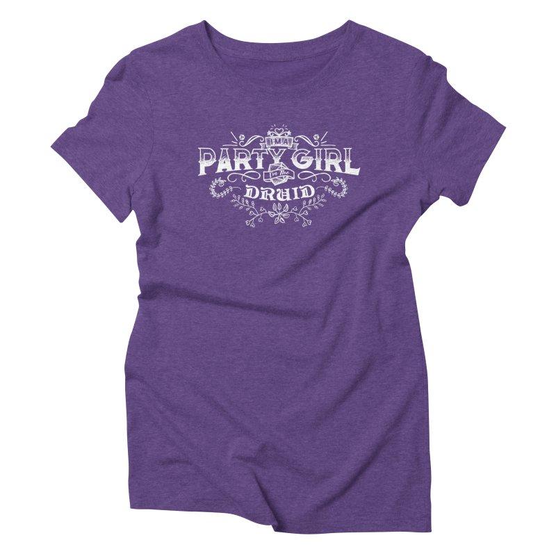 Party Girl: Druid Women's Triblend T-Shirt by march1studios's Artist Shop