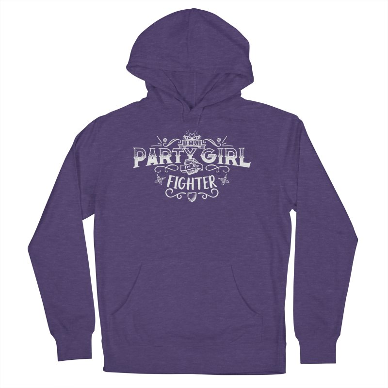 Party Girl: Fighter Women's French Terry Pullover Hoody by march1studios's Artist Shop