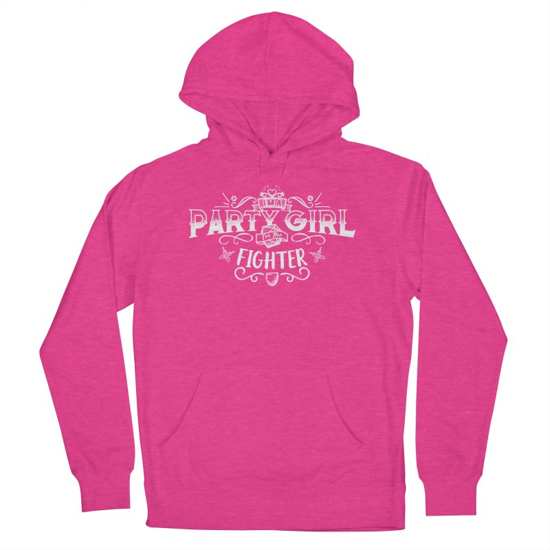 Party Girl: Fighter Men's French Terry Pullover Hoody by march1studios's Artist Shop