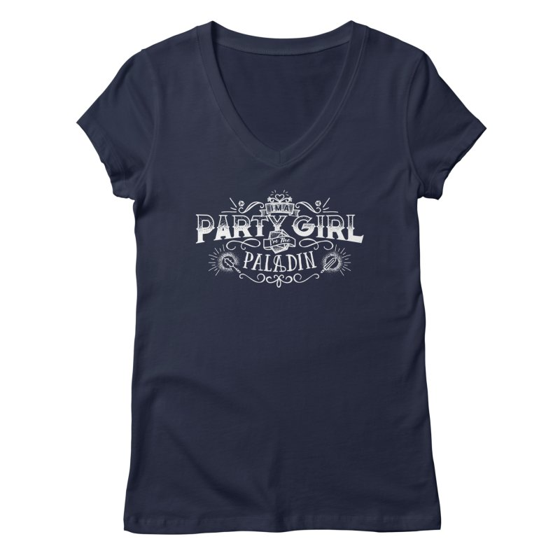 Party Girl: Paladin Women's V-Neck by march1studios's Artist Shop