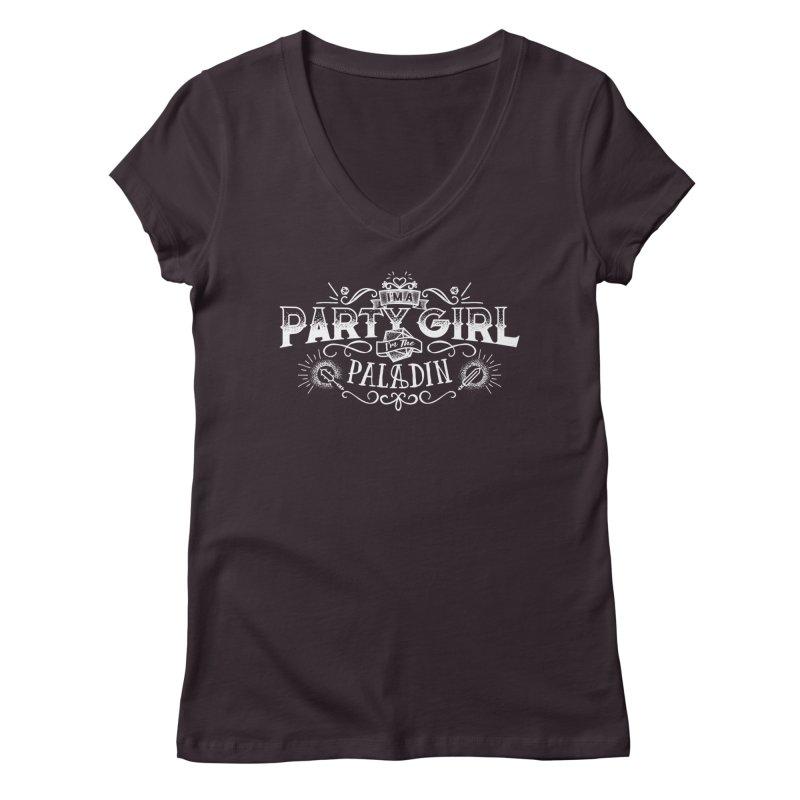 Party Girl: Paladin Women's Regular V-Neck by march1studios's Artist Shop