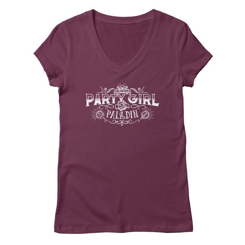 Party Girl: Paladin Women's Regular V-Neck by March1Studios on Threadless