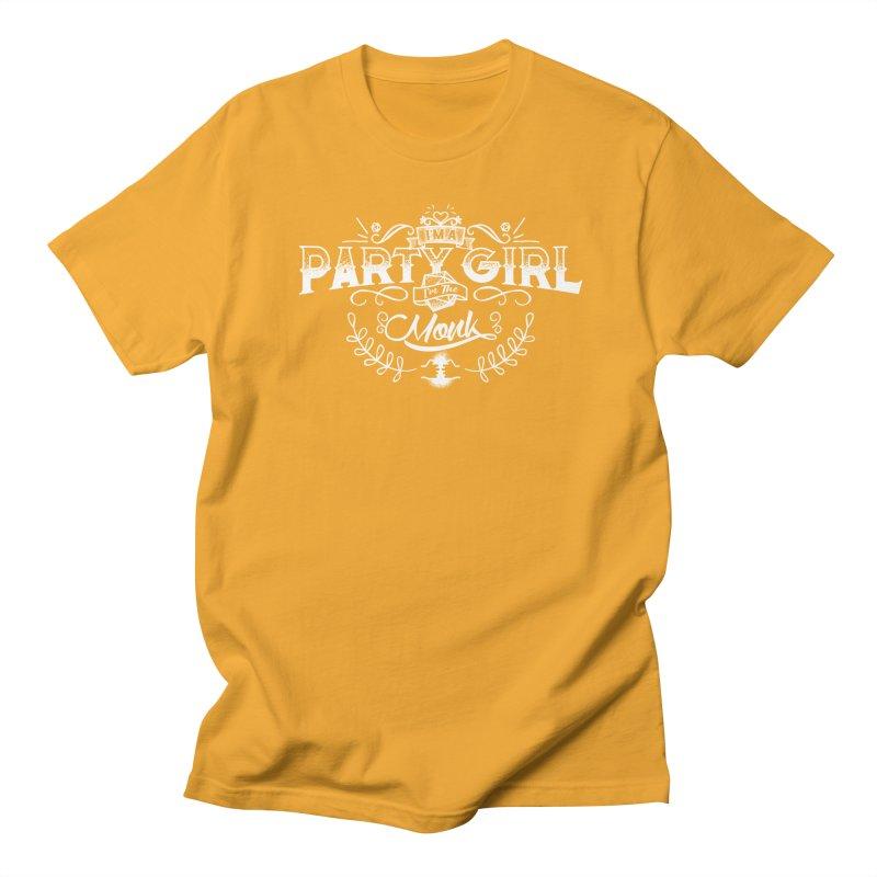 Party Girl: Monk Men's Regular T-Shirt by march1studios's Artist Shop