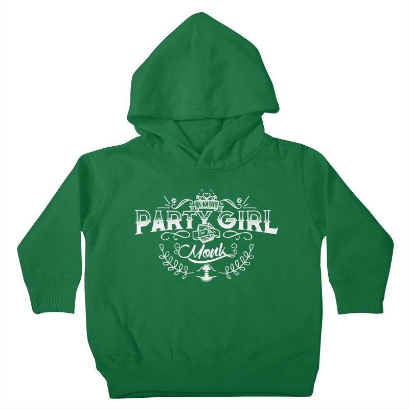 Party Girl: Monk Kids Toddler Pullover Hoody by march1studios's Artist Shop