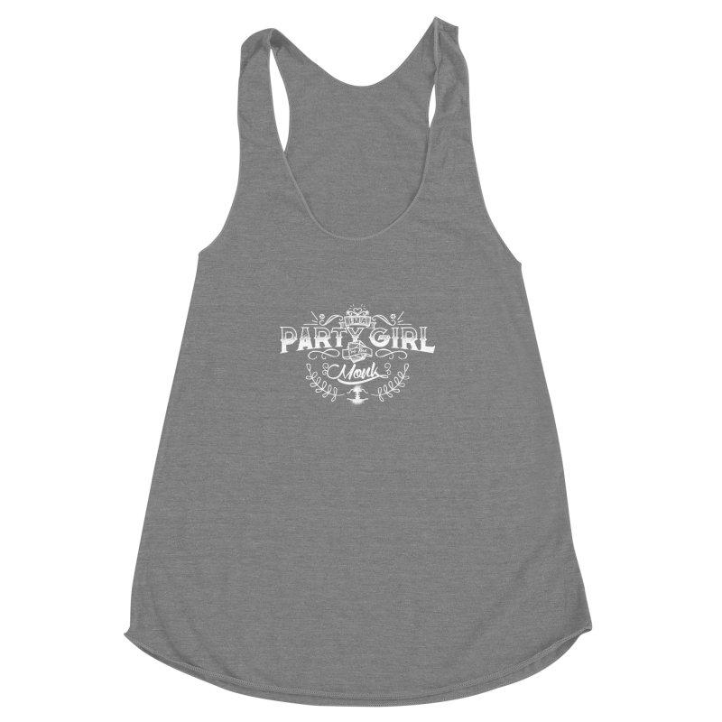 Party Girl: Monk Women's Racerback Triblend Tank by march1studios's Artist Shop