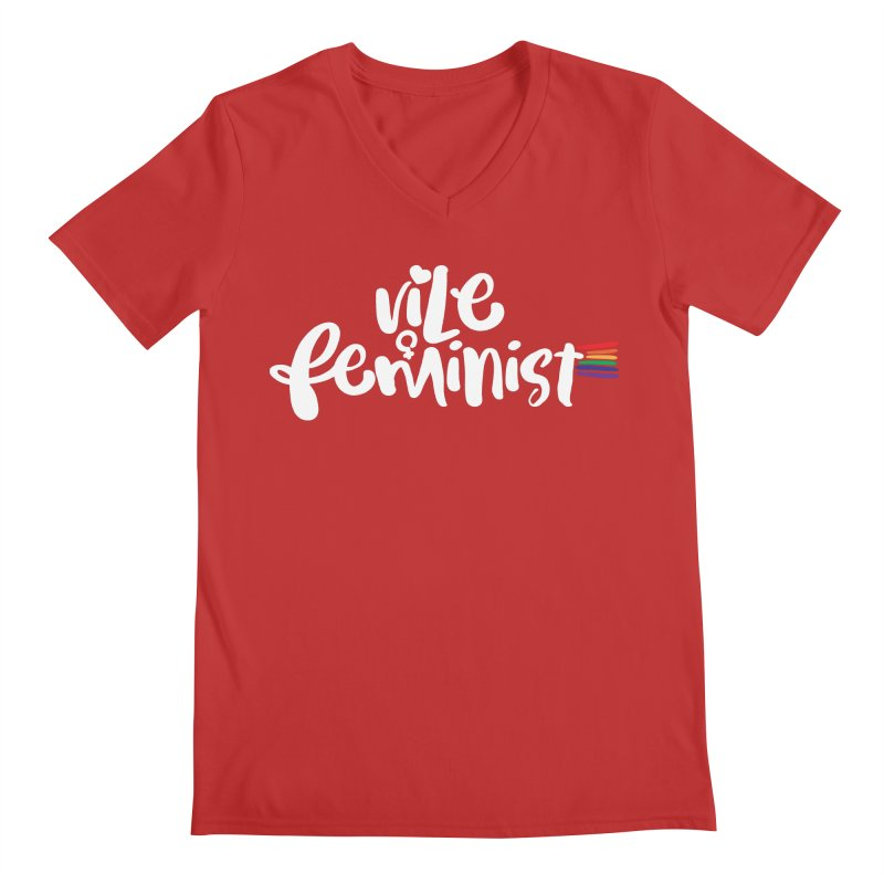 Vile Feminist Men's Regular V-Neck by march1studios's Artist Shop