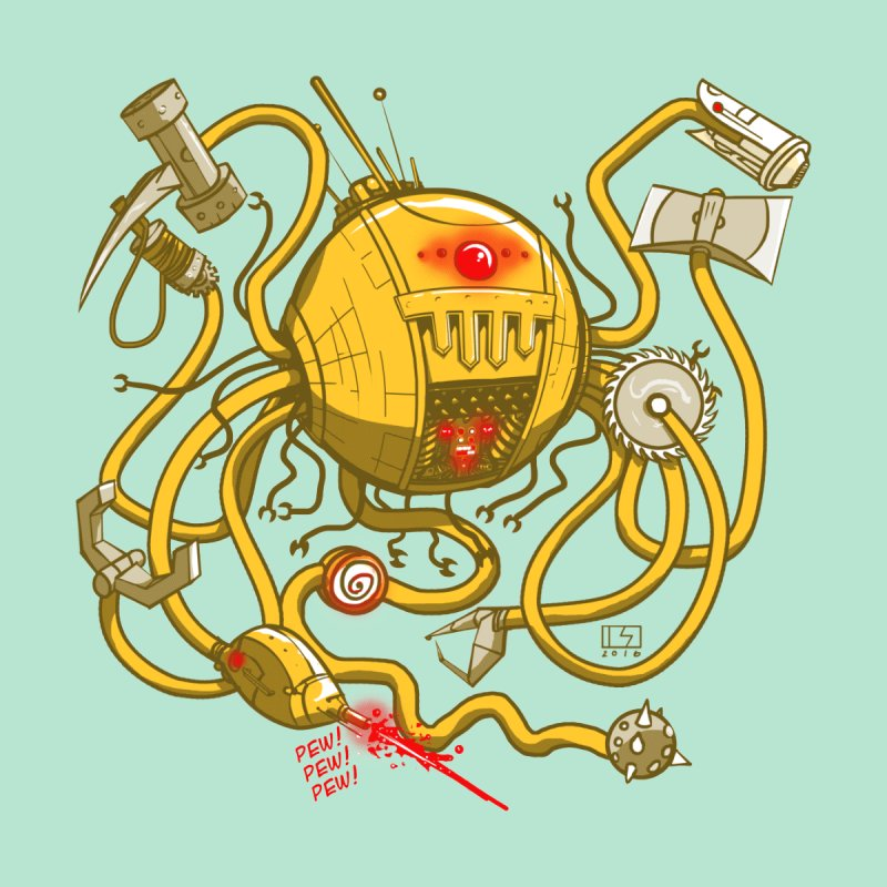 Wrecker the Robot by March1Studios on Threadless