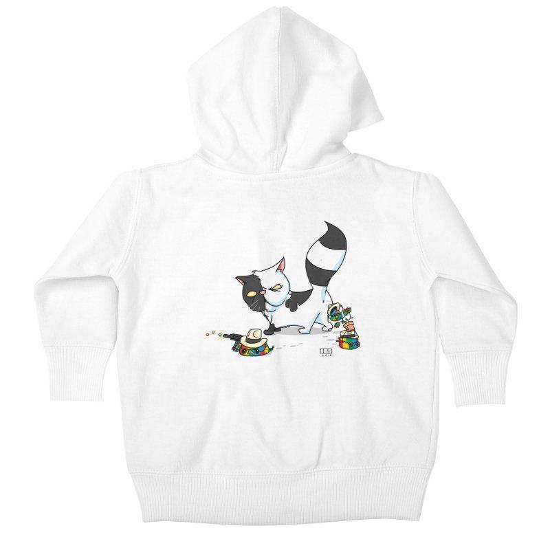 Mitten The Kitten Kids Baby Zip-Up Hoody by march1studios's Artist Shop