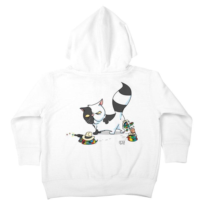 Mitten The Kitten Kids Toddler Zip-Up Hoody by march1studios's Artist Shop
