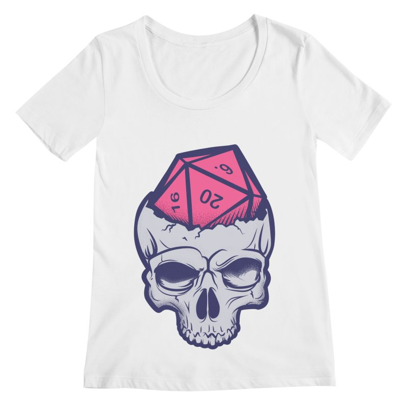 Dice For Brains Women's Regular Scoop Neck by March1Studios on Threadless