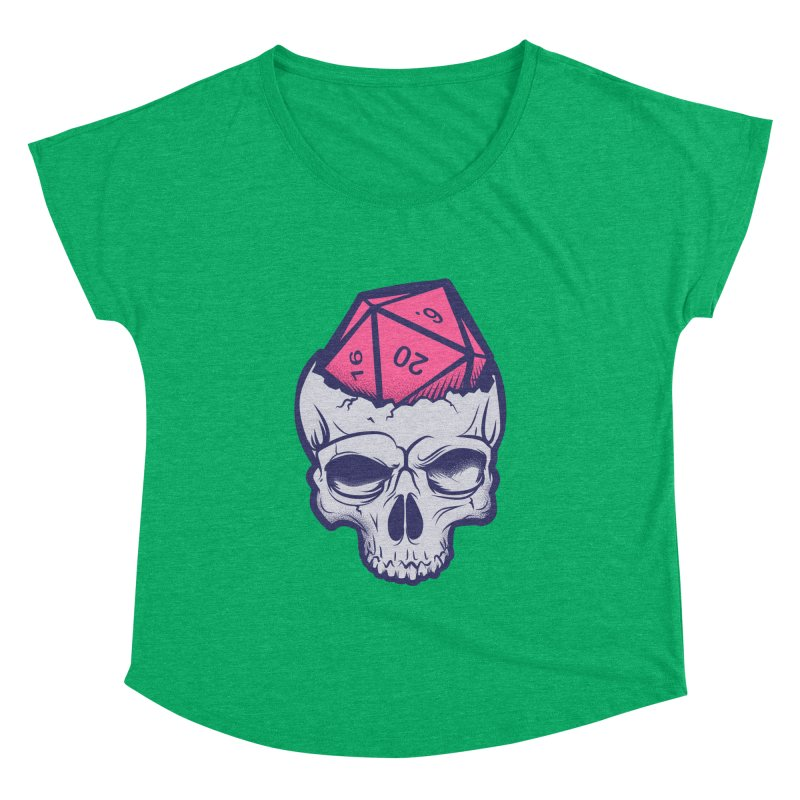 Dice For Brains Women's Dolman Scoop Neck by March1Studios on Threadless