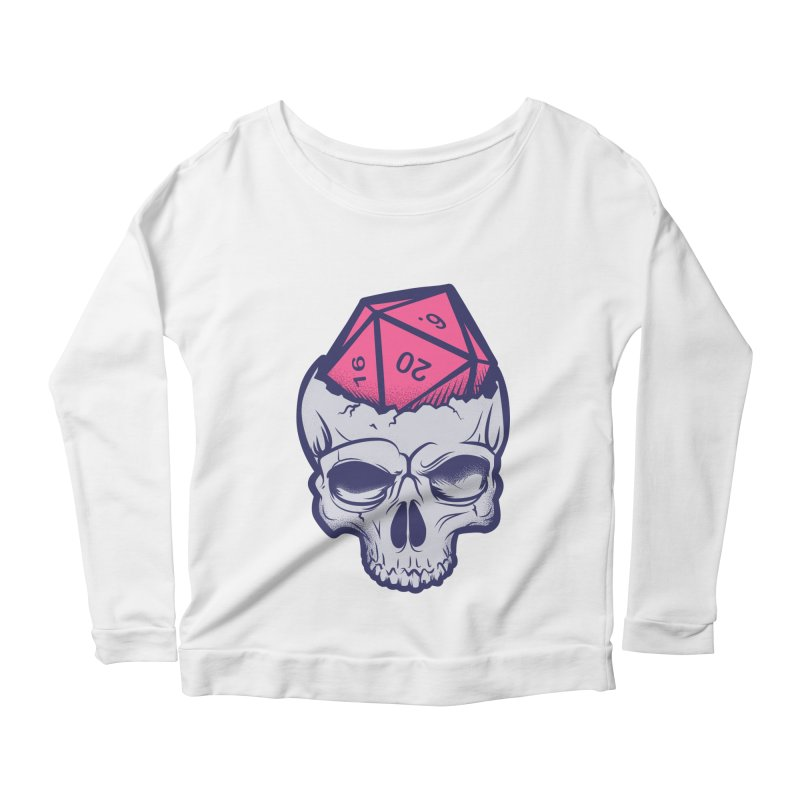 Dice For Brains Women's Scoop Neck Longsleeve T-Shirt by March1Studios on Threadless