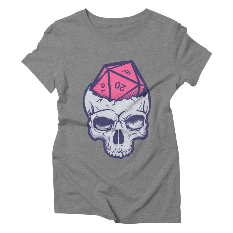 Dice For Brains Women's Triblend T-Shirt by March1Studios on Threadless