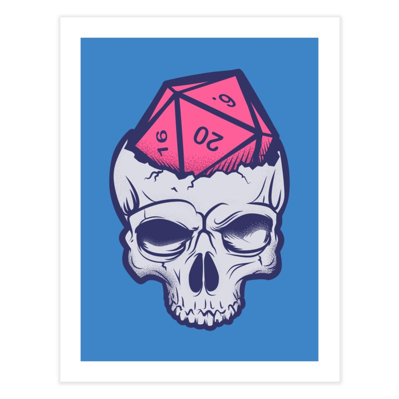 Dice For Brains Home Fine Art Print by March1Studios on Threadless
