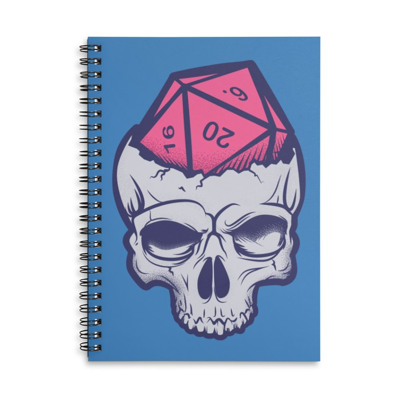 Dice For Brains Accessories Lined Spiral Notebook by March1Studios on Threadless