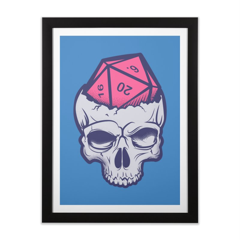 Dice For Brains Home Framed Fine Art Print by March1Studios on Threadless