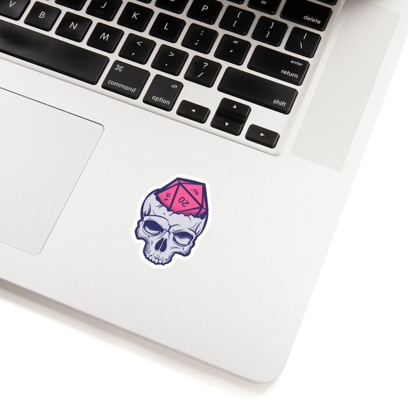 Dice For Brains Accessories Sticker by March1Studios on Threadless