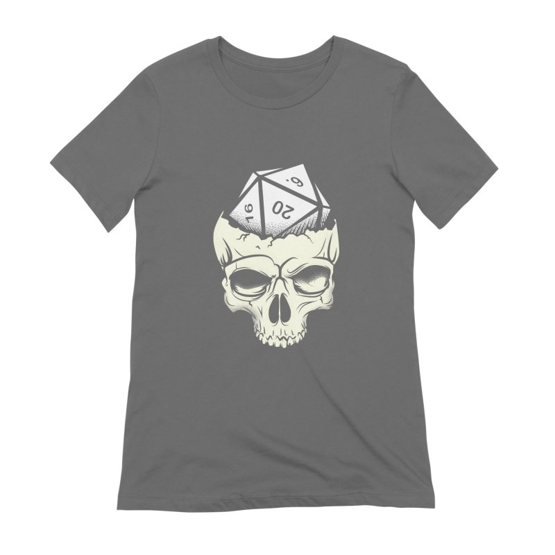 White Die of Death Women's Extra Soft T-Shirt by March1Studios on Threadless