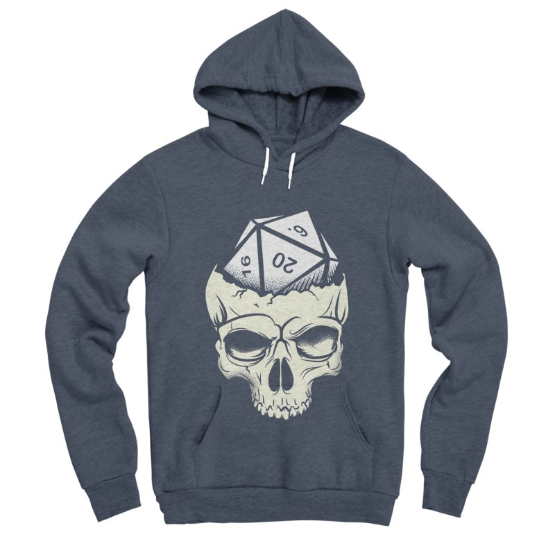 White Die of Death Women's Sponge Fleece Pullover Hoody by March1Studios on Threadless