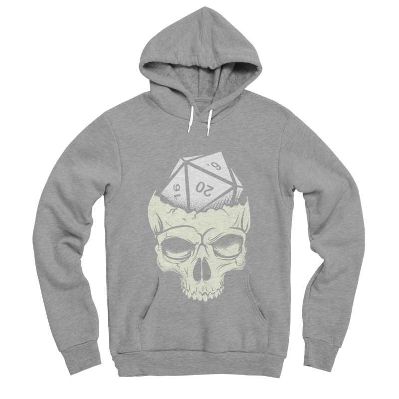 White Die of Death Men's Sponge Fleece Pullover Hoody by March1Studios on Threadless