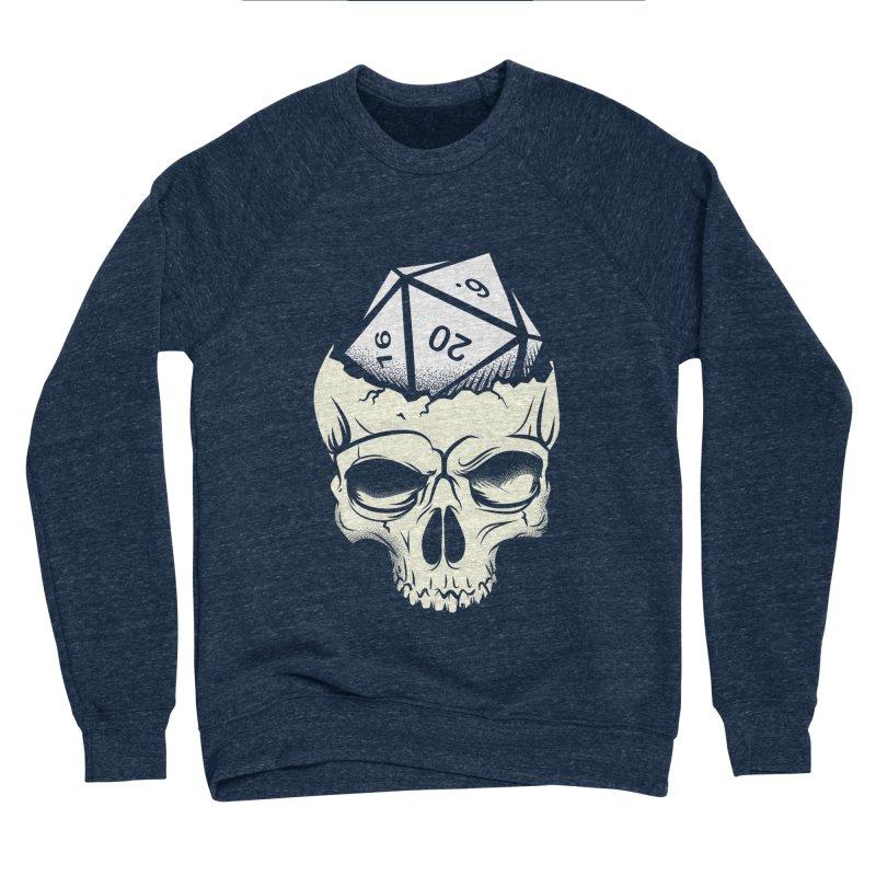 White Die of Death Men's Sponge Fleece Sweatshirt by March1Studios on Threadless