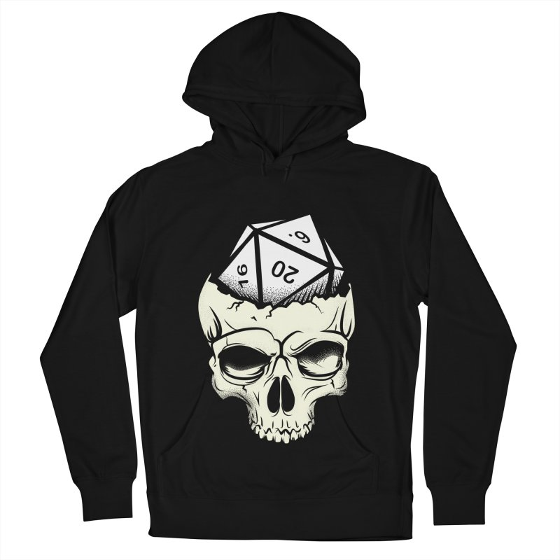 White Die of Death Men's French Terry Pullover Hoody by March1Studios on Threadless