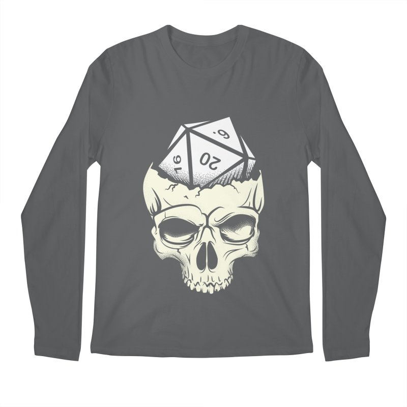 White Die of Death Men's Regular Longsleeve T-Shirt by March1Studios on Threadless