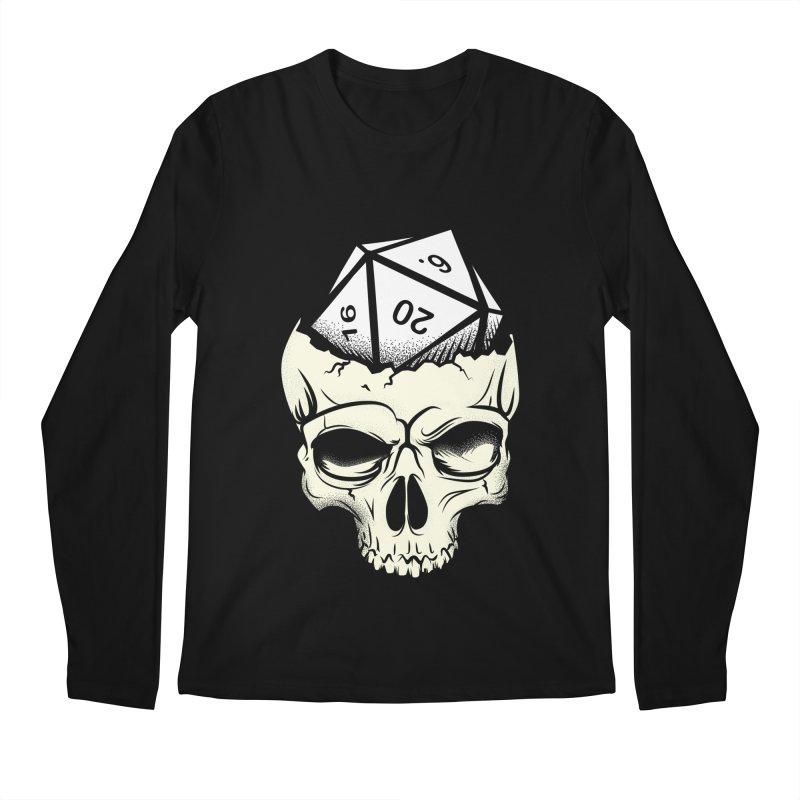 White Die of Death Men's Regular Longsleeve T-Shirt by March1Studios on Threadless