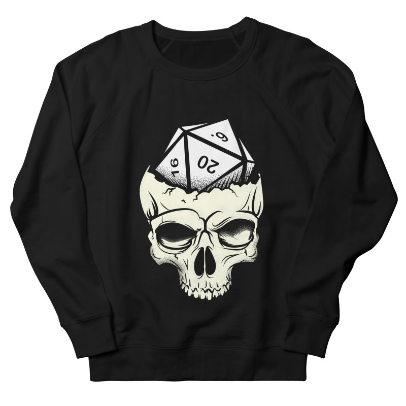 White Die of Death Women's French Terry Sweatshirt by March1Studios on Threadless