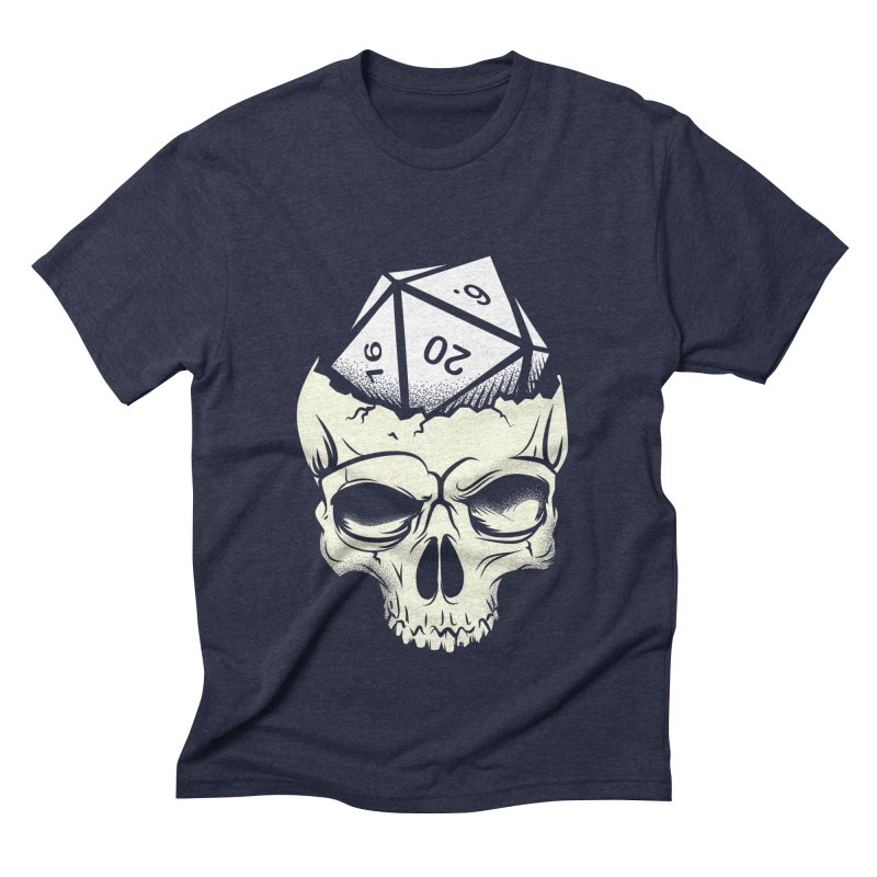 White Die of Death Men's Triblend T-Shirt by March1Studios on Threadless