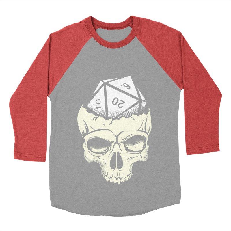 White Die of Death Women's Baseball Triblend Longsleeve T-Shirt by March1Studios on Threadless