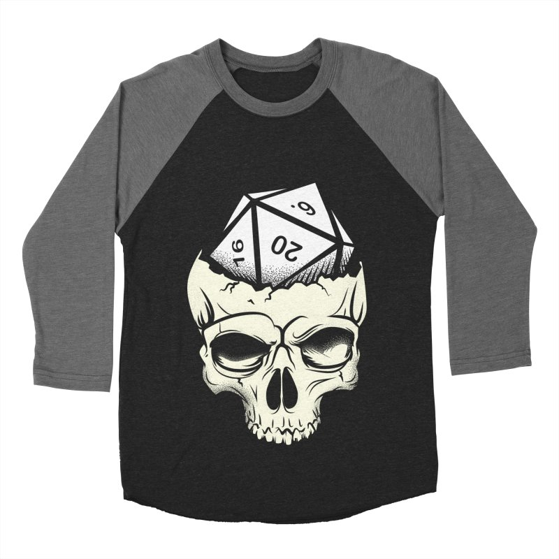 White Die of Death Men's Baseball Triblend Longsleeve T-Shirt by March1Studios on Threadless