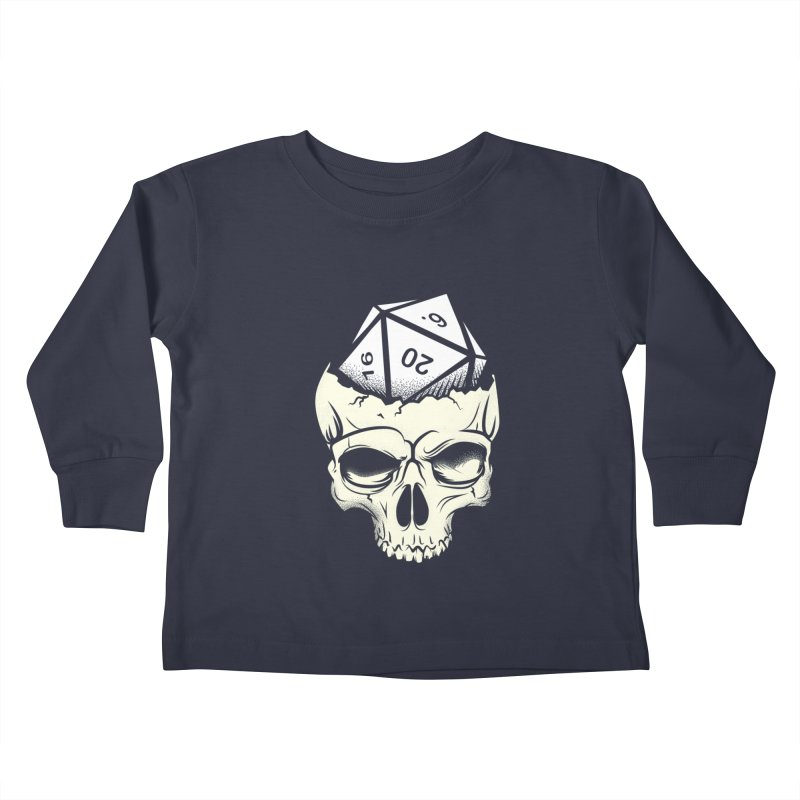 White Die of Death Kids Toddler Longsleeve T-Shirt by March1Studios on Threadless