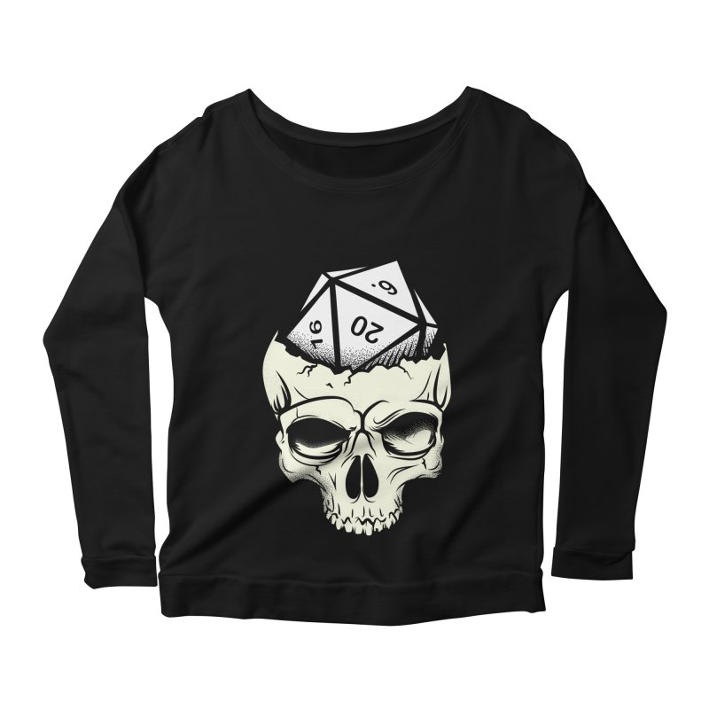 White Die of Death Women's Scoop Neck Longsleeve T-Shirt by March1Studios on Threadless