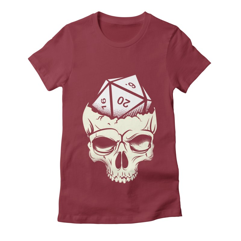 White Die of Death Women's Fitted T-Shirt by March1Studios on Threadless