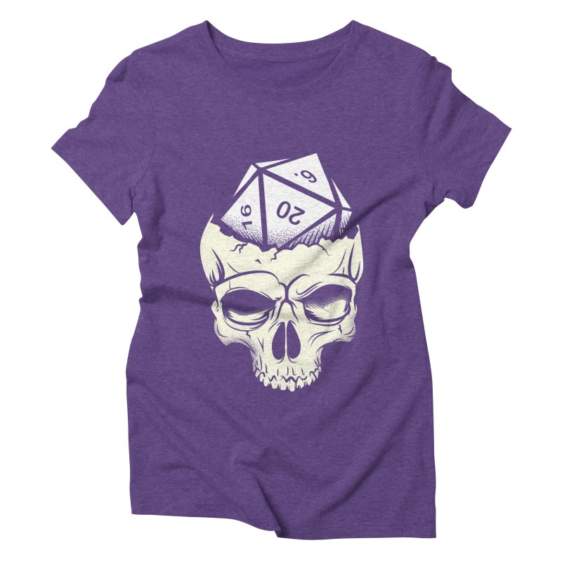 White Die of Death Women's Triblend T-Shirt by March1Studios on Threadless