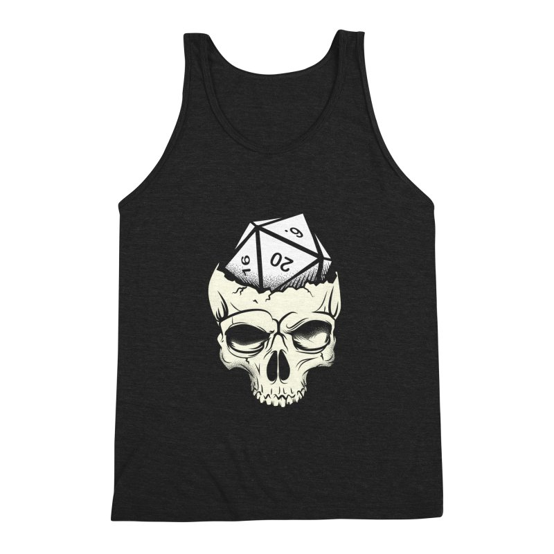 White Die of Death Men's Triblend Tank by March1Studios on Threadless