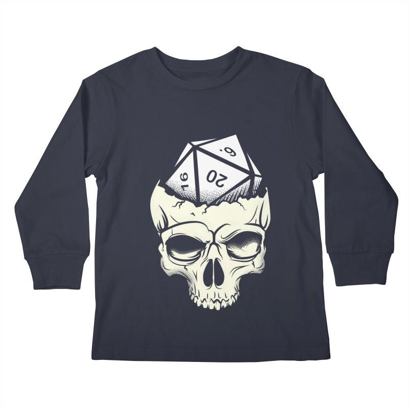 White Die of Death Kids Longsleeve T-Shirt by March1Studios on Threadless
