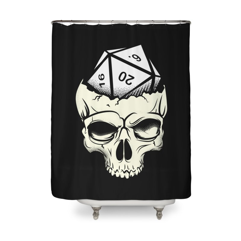 White Die of Death Home Shower Curtain by March1Studios on Threadless