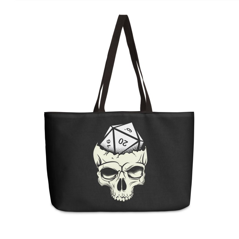 White Die of Death Accessories Weekender Bag Bag by March1Studios on Threadless