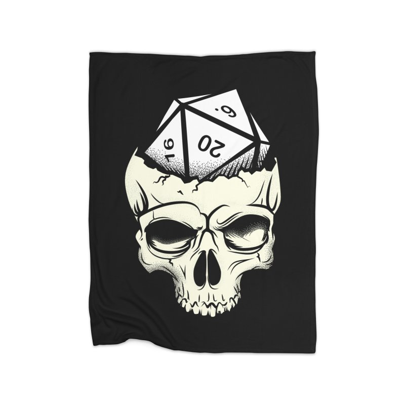 White Die of Death Home Fleece Blanket Blanket by March1Studios on Threadless
