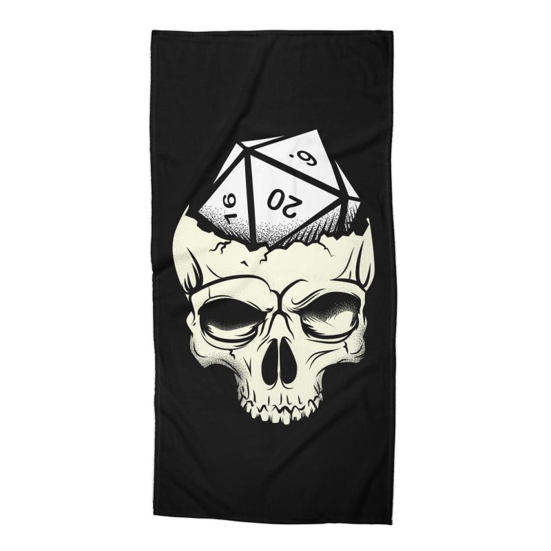 White Die of Death Accessories Beach Towel by March1Studios on Threadless