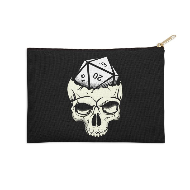 White Die of Death Accessories Zip Pouch by March1Studios on Threadless