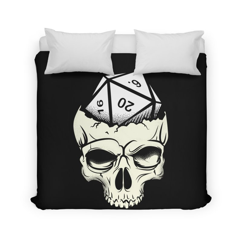 White Die of Death Home Duvet by March1Studios on Threadless