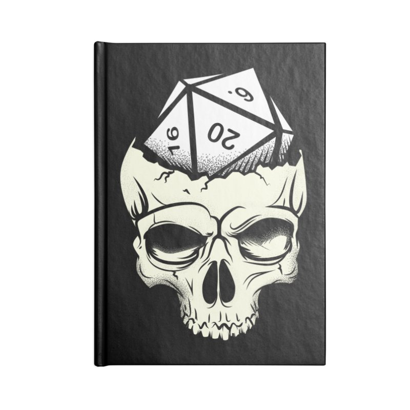 White Die of Death Accessories Lined Journal Notebook by March1Studios on Threadless