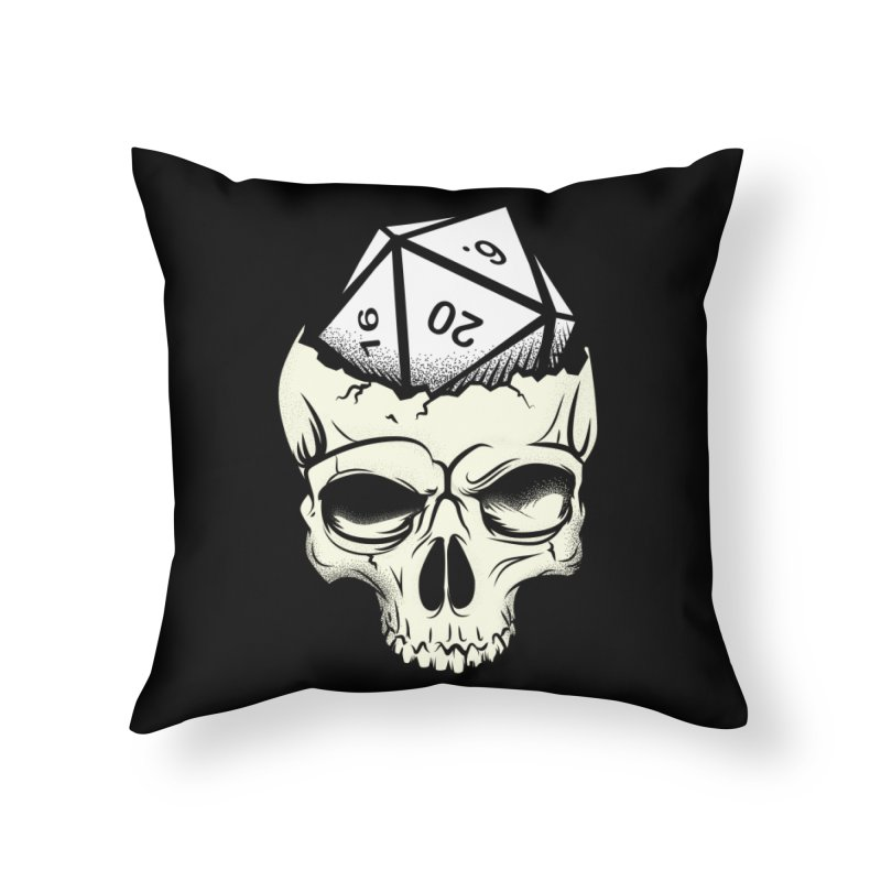 White Die of Death Home Throw Pillow by March1Studios on Threadless